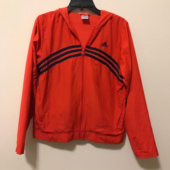 Adidas red jacket